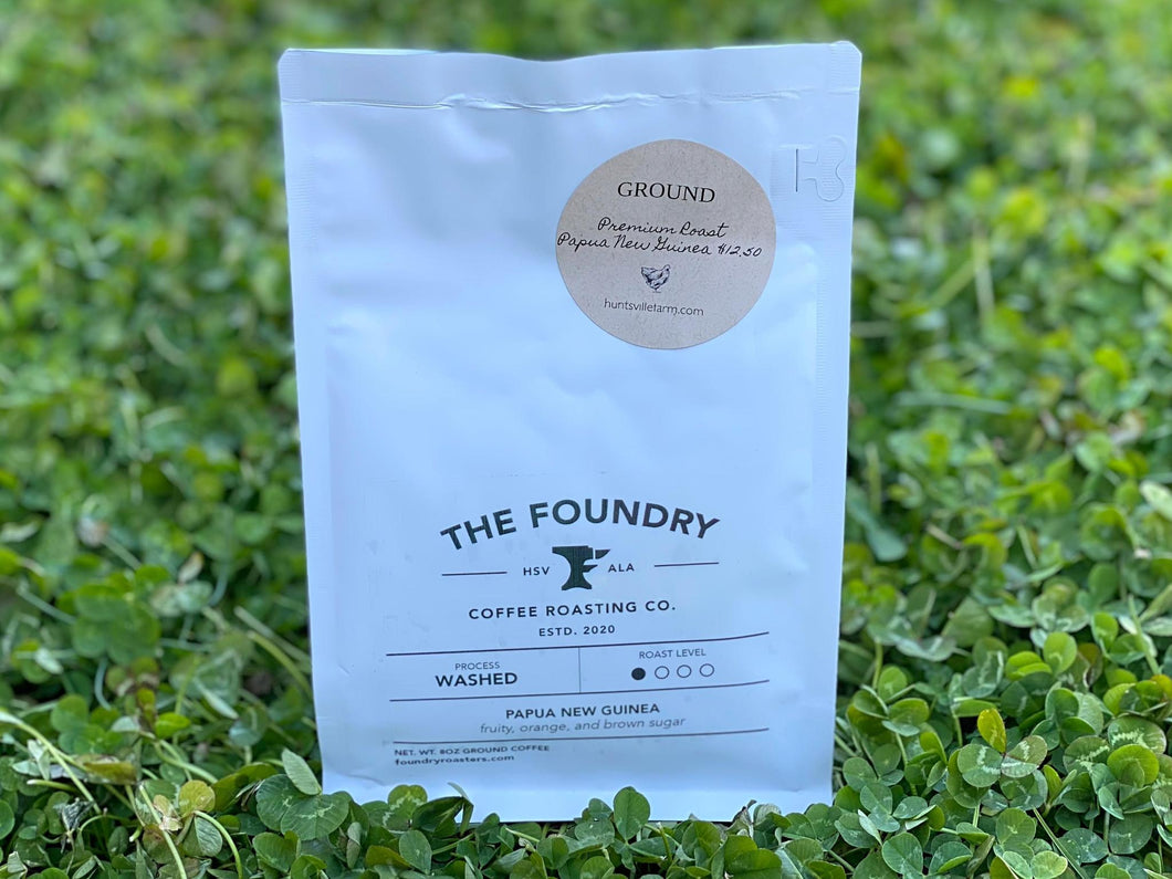 Premium Roast: Ethiopian Ground Coffee 8oz- The Foundry Coffee Roasting Co