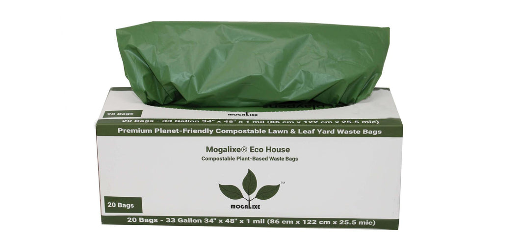 Biodegradable & Compostable Kitchen Bags - 33 gal, 20 bags