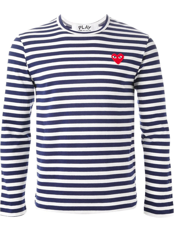 Striped Tee Red Heart - Blue
