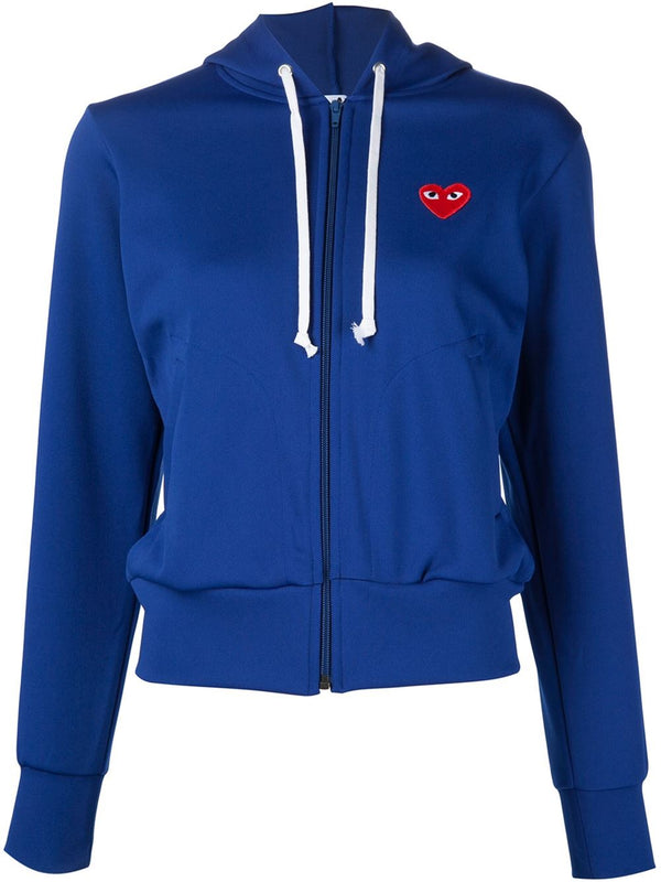 Zipped Hoodie Red Heart - Blue