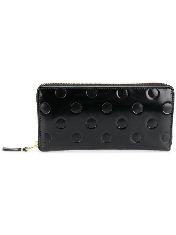 SA0110NE Wallet - Embossed Polka Dot Black