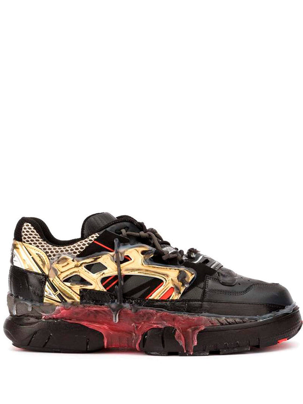 Dirty Treatment Fusion Low Top - Black/Red/Gold