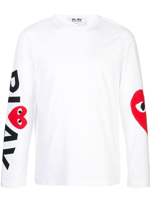 Long Sleeved Graphic Tee - White