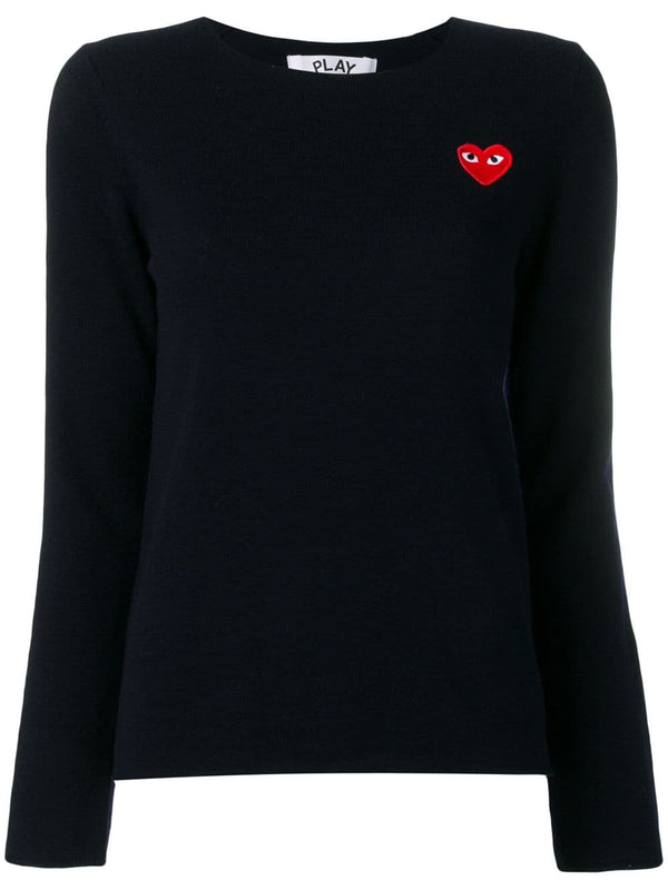Crewneck Pullover Red Heart - Navy