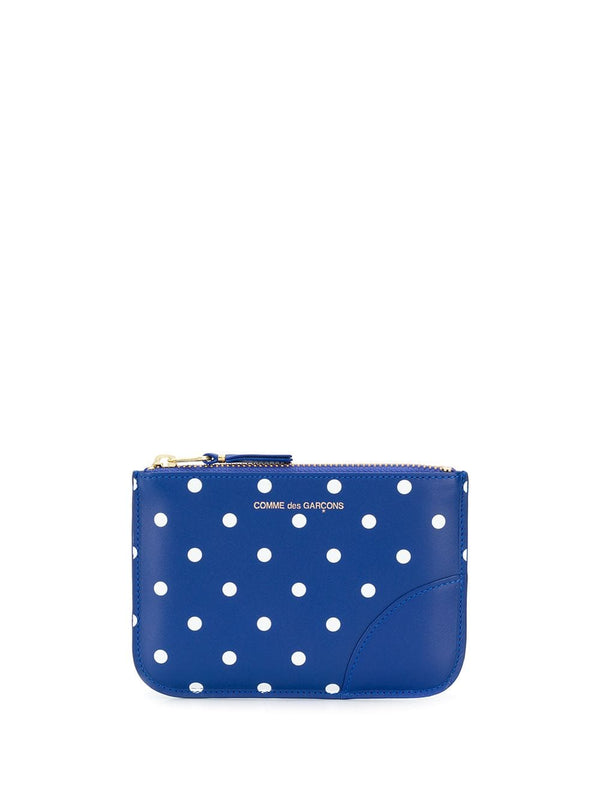SA8100PD Wallet - Printed Polka Dots Navy