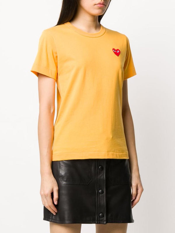 Short Sleeve Tee Red Heart - Yellow