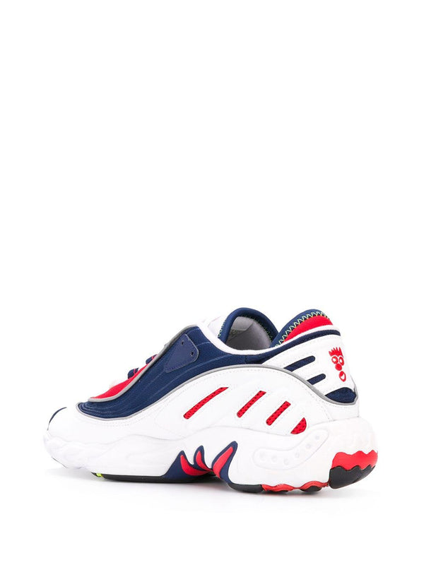 FYW 98 contrast panel sneakers - Blue/Red/White