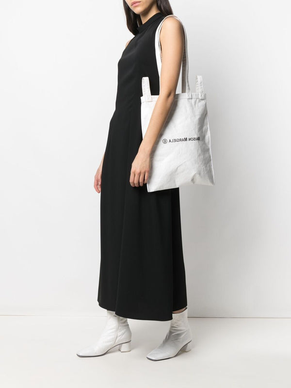 Coated Logo Tote Bag - White