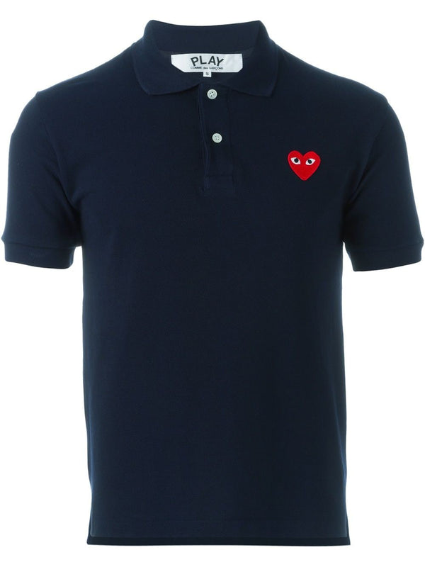 Polo Shirt Red Heart - Navy