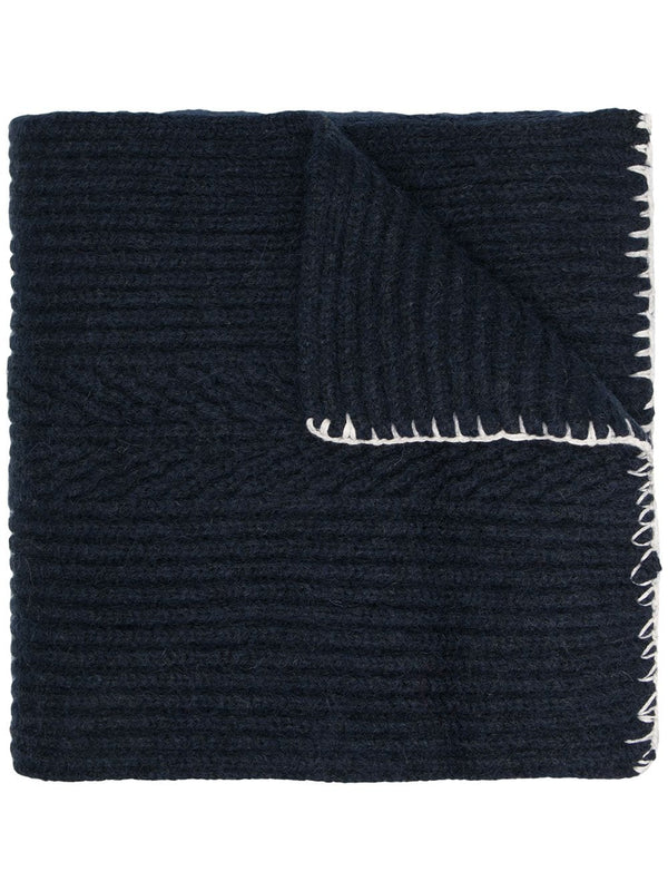 Ribbed Scarf - Navy