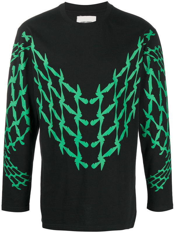 SCOOTER LONG TEE - BLACK GREEN