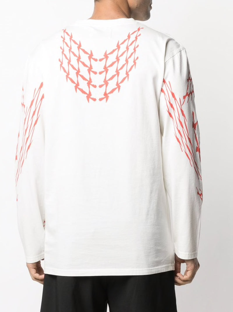 OFF WHITE/RED SCOOTER LONG TEE