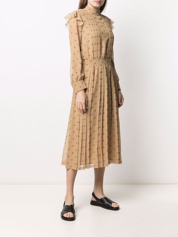 Midi Dress in Cherry pattern