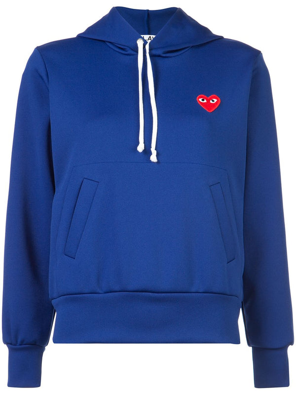 Pullover Hoodie Red Heart - Blue
