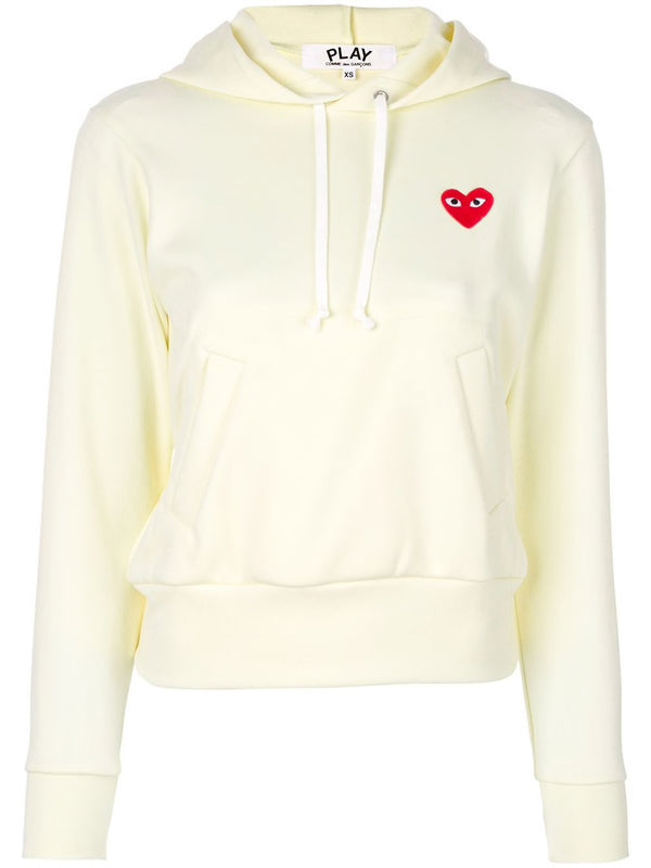 Pullover Hoodie Red Heart - Ivory
