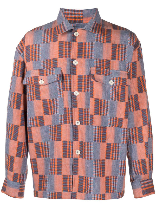Match Box Shirt - Light Blue/Orange