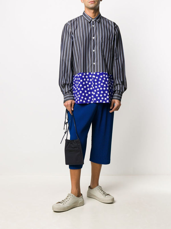 Drop Crotch Pleated Shorts - Blue