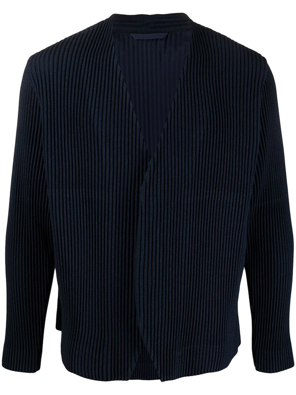 Pleated Single-breasted blazer - Navy