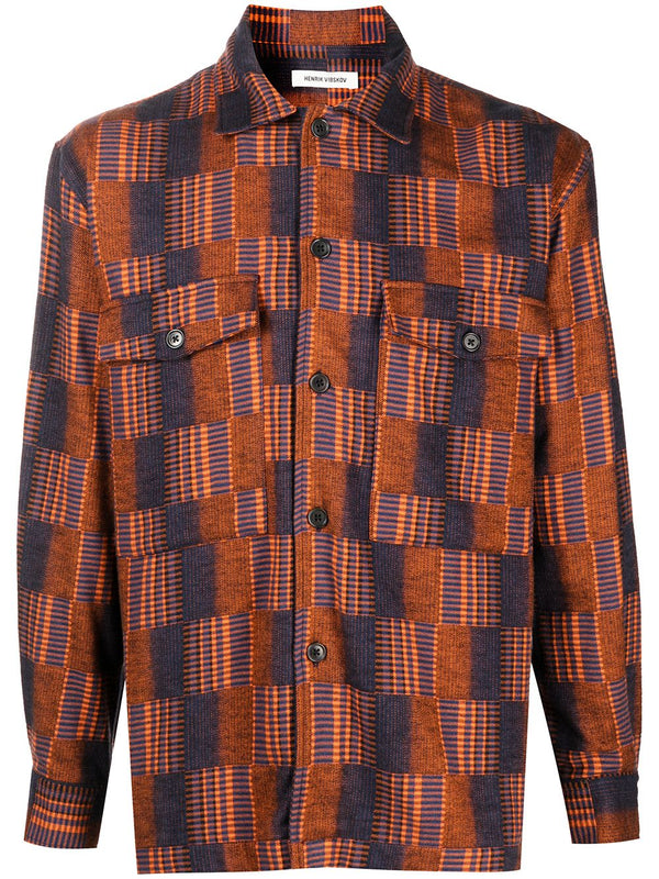MATCH BOX SHIRT SS21-M216 DARK ORANGE L