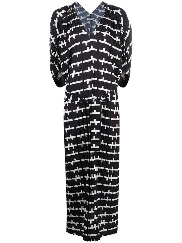 JELLY DRESS PLISSÉ SS21-F320 BLACK AND WHITE MATCHES L