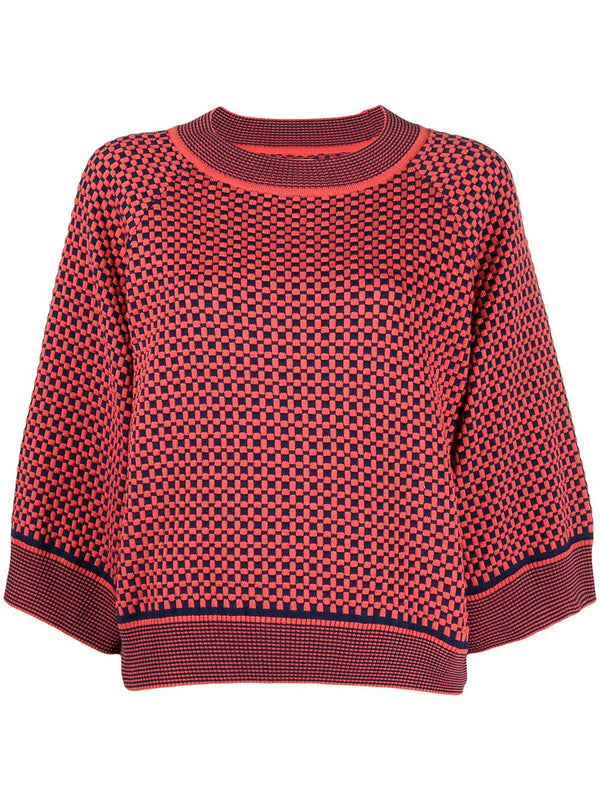 TILES TRUMPET KNIT SS21-F703 RED TUBE TILES L