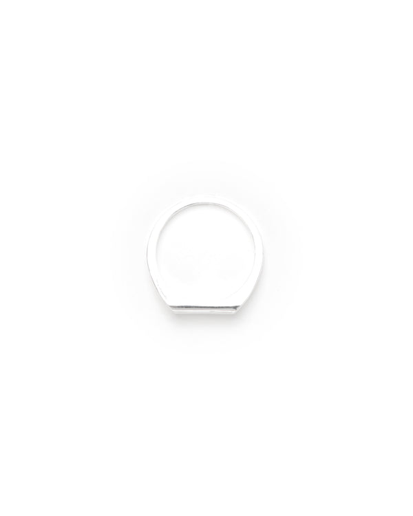 I.O-08 Thin Signet Ring - Silver