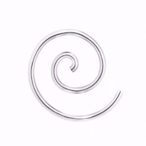 Large Spiral Earring Silver