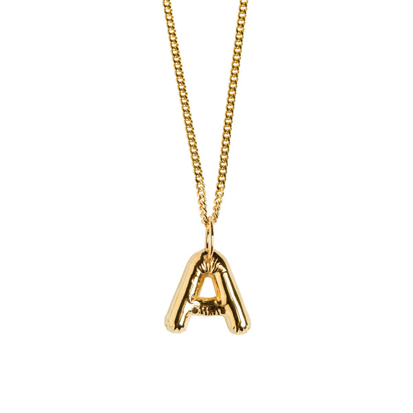 Love Letter Pendant With 42 cm Chain - Gold