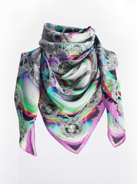 Pearly Moon Scarf 90x90 - Purple