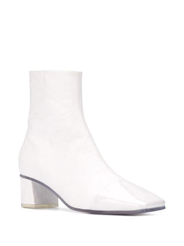 PVC Ankle Boots - White