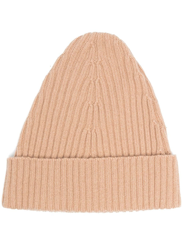 Ribbed Knit Hat - Beige
