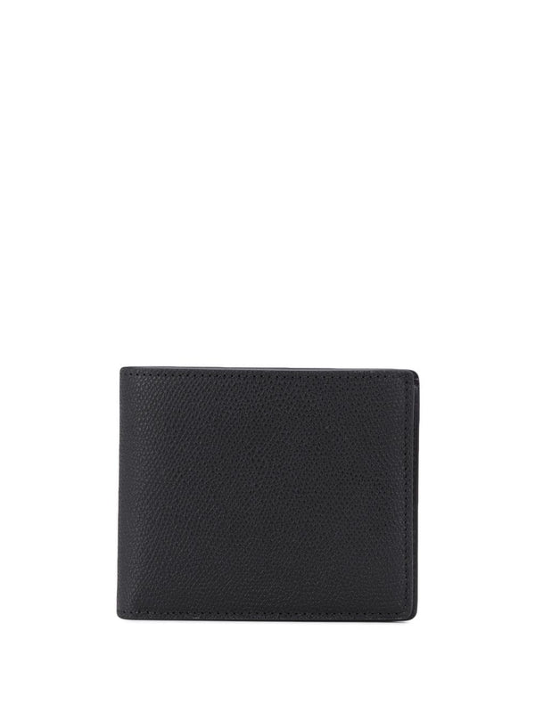 four-stitch logo bi-fold wallet - Black