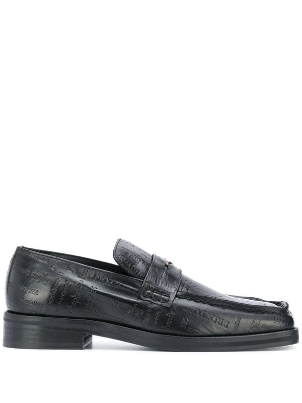 Roxy Embossed Penny Loafers