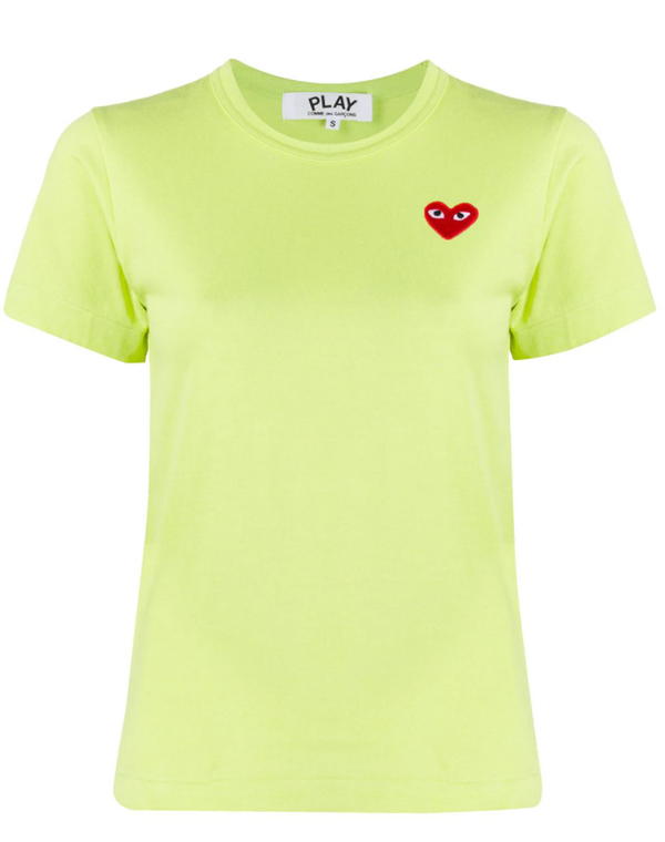 Short Sleeve Tee Red Heart - Lime