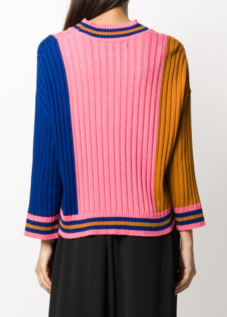 Tricolor Long Sleeve - Gold/Pink/Blue