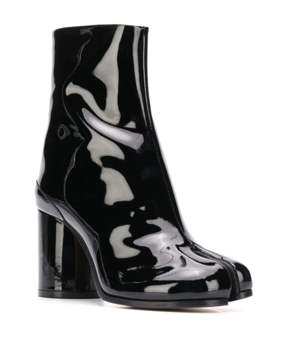 Tabi boot 80mm patent leather - black