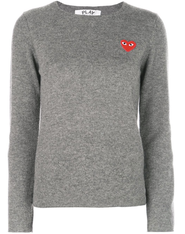 Crewneck Pullover Red Heart - Grey