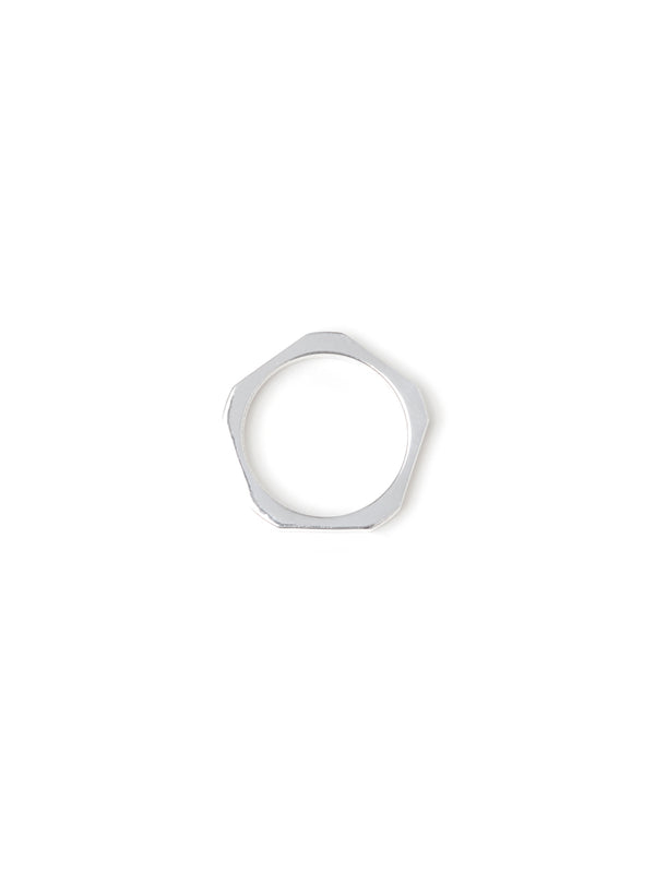 I.O-04 Thin Signet Ring - Silver
