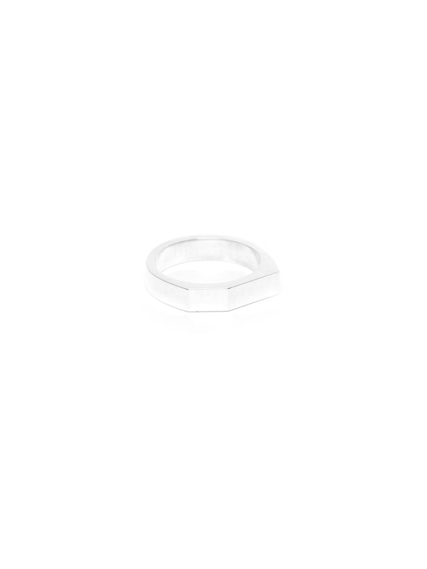 I.O-05 Thin Signet Ring - Silver