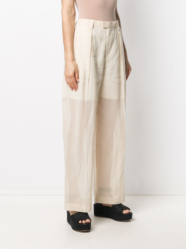 Transparent Overlay Pants - Ivory