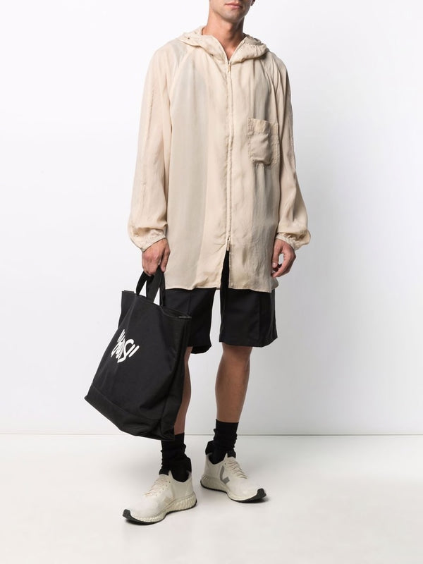 Cupro Hooded Jacket - Sand