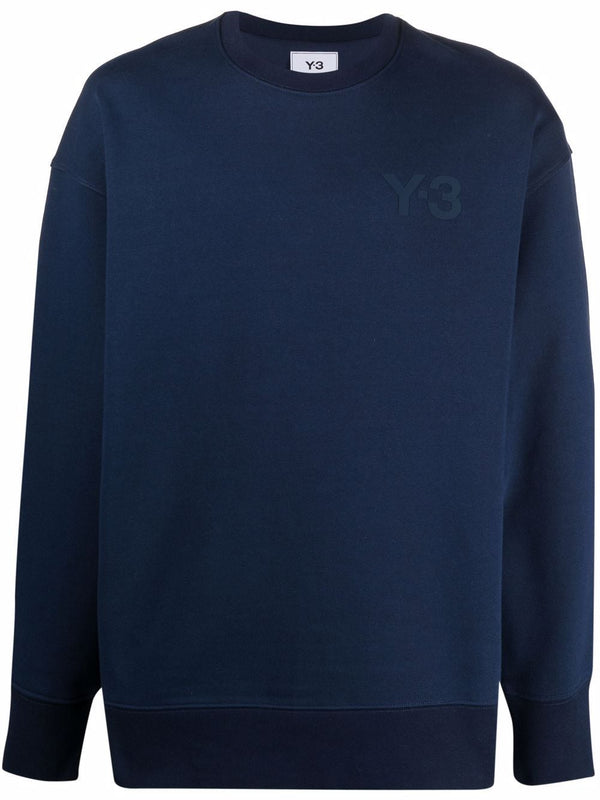Crewneck Sweatshirt Chest Logo - Navy