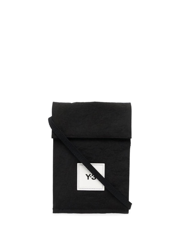 Logo-patch pocket-bag - black