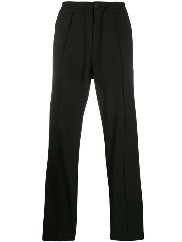 Straight-leg PANTS - BLACK