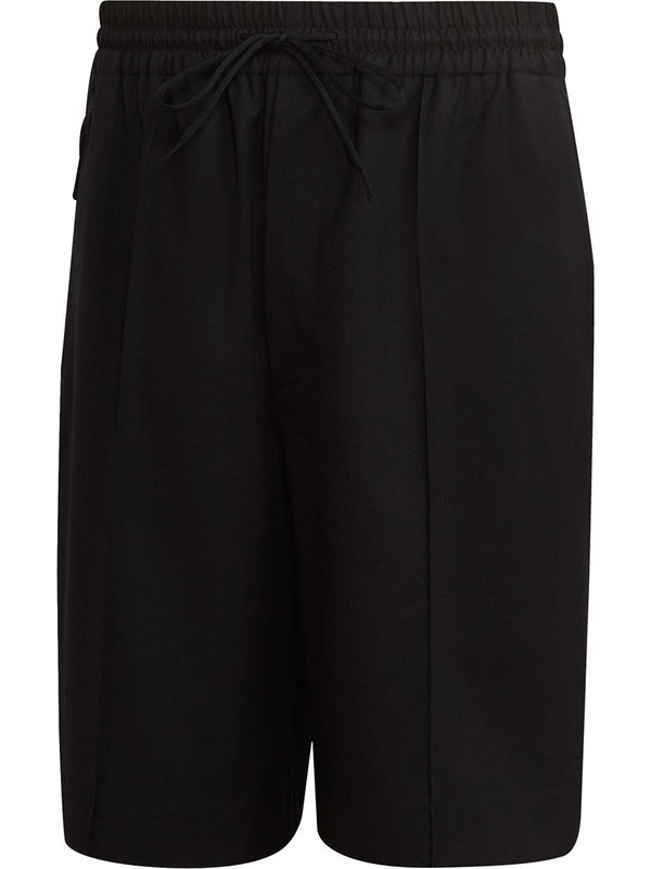 Tailored Drawstring Shorts - Black