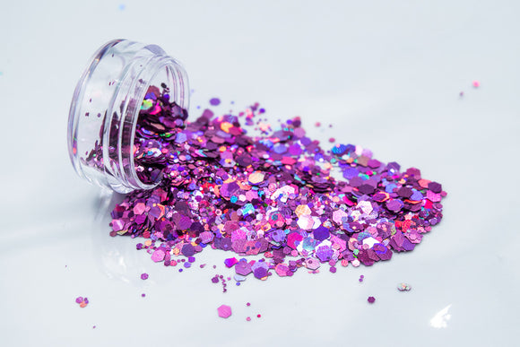 Pink/Purple Holographic Chunky Glitter