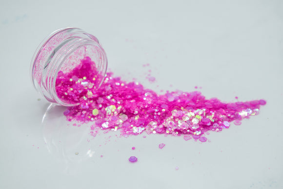 Poppin Pink Party Chunky Glitter Mix