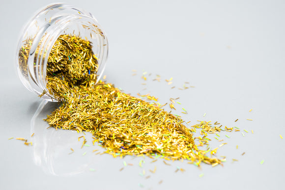 Gold Holographic Glitter Flakes