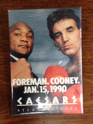 George Forman and Gerry Cooney Pin Jan15,1990.