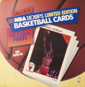 McDonald's NBA Hoops Limited Edition Basketball Cards with Michael Jordan